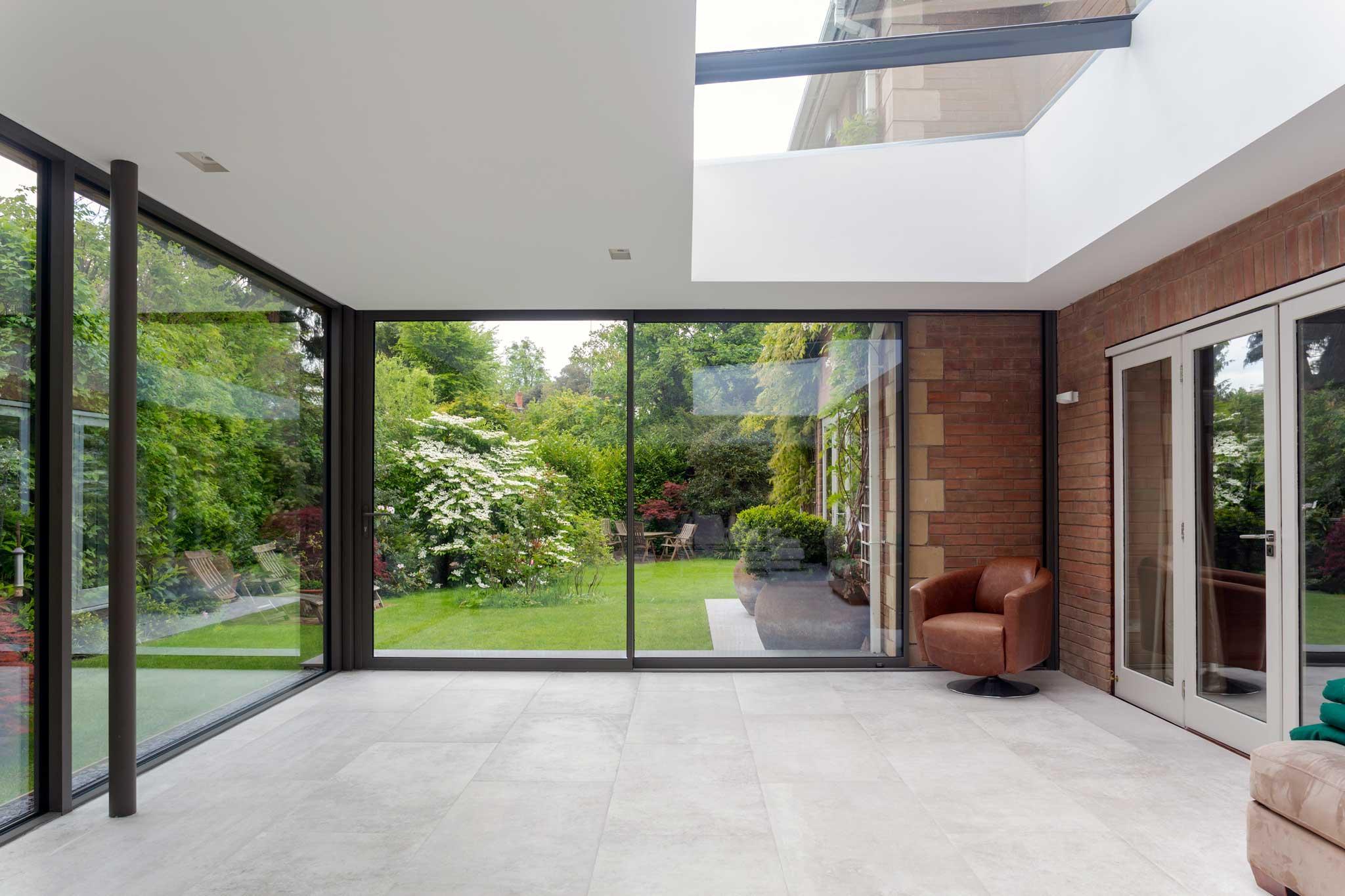 slimline aluminium sliding doors farnborough